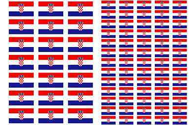 Guadeloupe Flag Stickers rectangular 21 or 65 per sheet