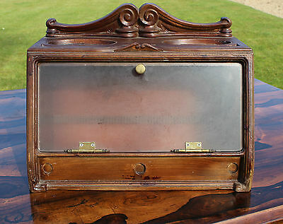 19th/20th Century Cigar Shop Display Cabinet with Humidor Tobacconist Interest
