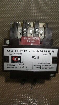 Cutler Hammer Contactor 120 Amp 600 Vac With 120V Coil Model C832Jn3