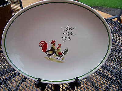 Horizon by Steubenville 'Family Affair' Rooster Hen  Large Oval Platter