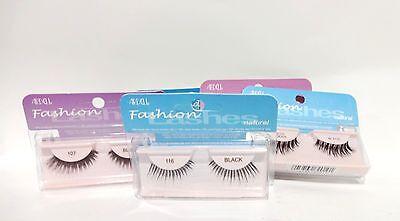 Ardell Eyelashes INVISIBAND GLAMOUR Assorted Choice in purple case ~1 pair Black