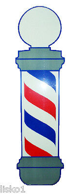 """#VT160  Barber Pole window Decal, 37""""x 10""""  , Static - Cling to glass"""