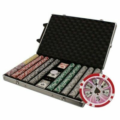 New 1000 High Roller 14g Clay Poker Chips Set with Rolling Case - Pick Chips!