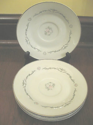Fine China of Japan Saucers-Lot of 4- Petite Bouquet