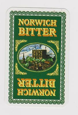 Norwich Bitter X 1 Only Single Vintage Playing/swapcard...