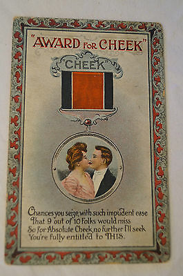 Award for Cheek - Vintage - Collectable - Postcard