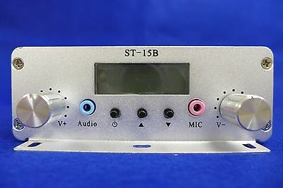 15W FM stereo PLL broadcast transmitter 86-108MHz with FM Car Sucker Antenna