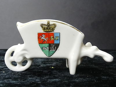 Gemma China Model Of A Wheel Barrow With Ramsgate Crest.