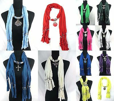 $3.90/pc, 20pcs wholesale Jewelry pendant necklace scarves bulk lot
