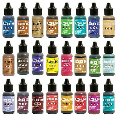 Ranger Tim Holtz ALCOHOL INK 14ml (79 Colors with Mixative Pearl) 2020 new stock