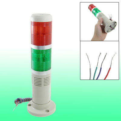24V DC Red Green Signal Industrial Tower Light Warning Lamp with Buzzer
