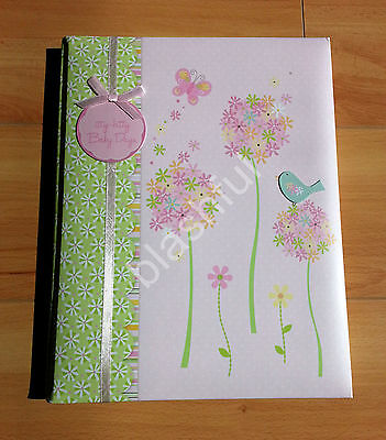 Carters Pink Floral Meadowlark Baby Girl Memory Keepsake Record Book