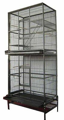 LARGE Stackable Double Bird Cockatiel Ferret Sugar Glider Wrought Iron Cage 495