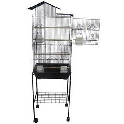 Cockatiels parakeets finchs or Canaries Bird Cage 6893 Black with 4813 stand-660