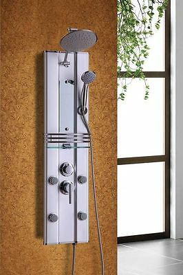 """41"""" SHOWER PANEL BATHROOM ALUMINUM 4 JETS  RAIN HEAD WITH SPROUT - brand new"""