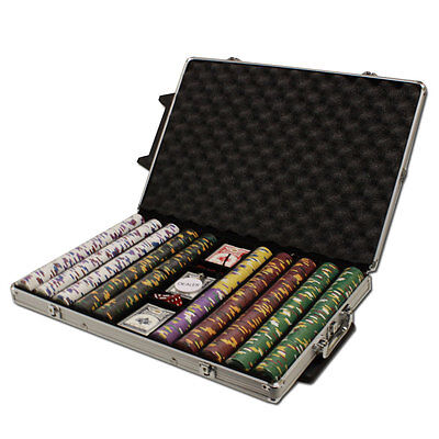 New 1000 Kings Casino 14g Clay Poker Chips Set with Rolling Case - Pick Chips!