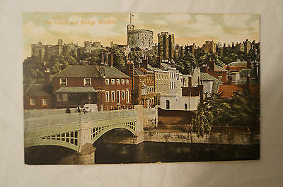 The Castle and Bridge - Windsor - England - Vintage - Collectable - Postcard.