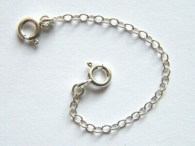 Sterling Silver Safety Extension Chain 8cm For Necklace Extender .925 Str.