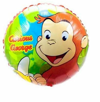 "Curious George party 18"" Foil Balloon, sold deflated"