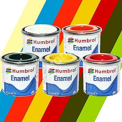 Humbrol Enamel Model Paints (14ml)  - Choose Colours and Quantity - Model Paint