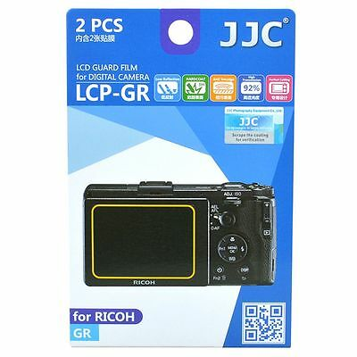 JJC LCP-GR LCD Screen Protector Guard Film Cover for Ricoh GR Camera
