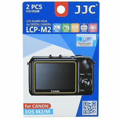 JJC LCP-M2 LCD Screen Protector Guard Film Cover for Canon EOS-M, EOS-M2 Camera