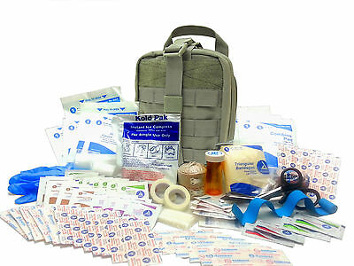 Military Rip-Away EMT First Aid Kit - IFAK Level 1 Army Medic - OD Green - #FA16