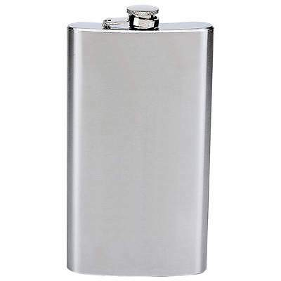 12 oz Solid Stainless Steel Pocket Hip Flask Screw Cap Alcohol Whiskey Liquor