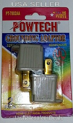 3 Prong to 2 Prong GROUNDING ADAPTER Converter 2 pieces in Pack - NEW