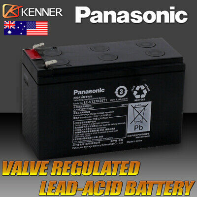 Panasonic 12v 7.2ah UPS Gate battery 12 volt > 7ah Sealed Lead Acid Rechargeable