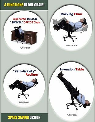 Patent for sale, World First 4-in-1 Transform Inversion Therapy Chair