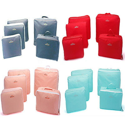 Travel Luggage 5 PCS Organizer Packing Clothes Storage Bags Cube Waterproof Bag