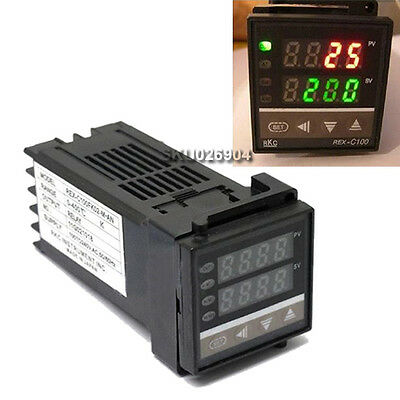 REX-C100 Dual PID F/C 400°C Digital Temperature Control Controller Thermocouple