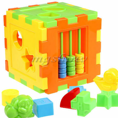 Colorful Block Magic Cube Toys Baby Educational Great Shape Sorting Kids Gifts