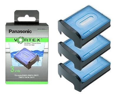 PANASONIC WES035P VORTEX CLEANING SHAVING SYSTEM SOLUTION CARTRIDGES x 3