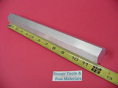 "HEX 1-1/8"" ALUMINUM 6061 HEX BAR 12"" long T6511 1.125"" SOLID LATHE STOCK"