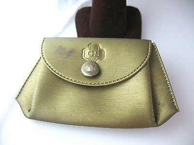 1961 Give-a-Way-Free Girl Scout Week Gift, Gold Metallic COIN PURSE Collectors