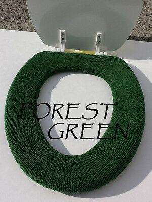 Bathroom Toilet Seat Warmer Cover  Washable -  Forest Green - LifeLong Needs