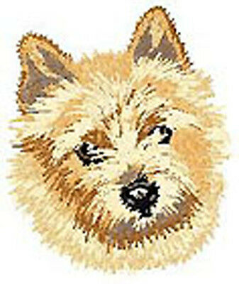 Norwich Terrier Portrait Embroidery Patch