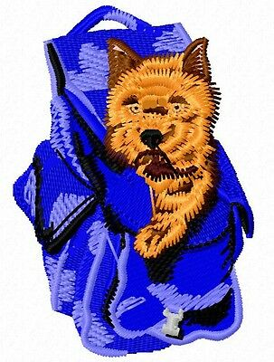 Norwich Terrier with pack Embroidery Patch