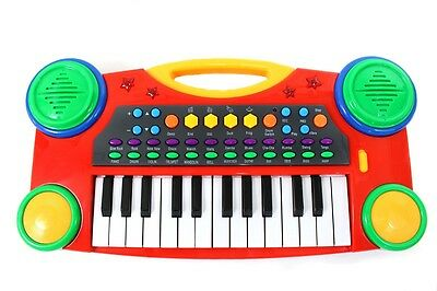 """NEW 16"""" Electronic Music Piano Keyboard for Kids Red"""