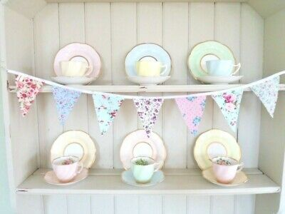 "Shabby Chic Country Bunting Ditsy Fabric Decorations 36"" Handmade & Gorgeous!"