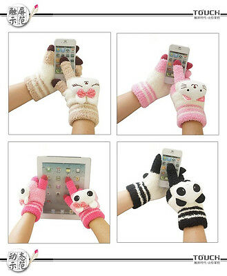 New Women's Down Gloves for Tablet cellphone Iphone Ipad Touch screen