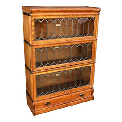 Lawyer  Cabinet / Bookcase leaded Glass inserts