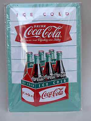 Blechschild Drink Coca Cola  ICE COLD Coke 20 x 30 cm Neu/OVP