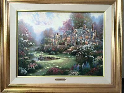 "Thomas Kinkade ""Gardens Beyond Spring Gate"" 18x24 Original PP 10/7 Oil Painting"