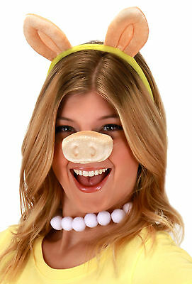 The Muppets Miss Piggy Pig Headband Snout Nose Costume Set Kit