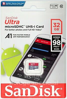 SanDisk Ultra 32 GB 98MB/s micro SDHC MEMORY TF Card 32G Extreme class 10 UHS A1