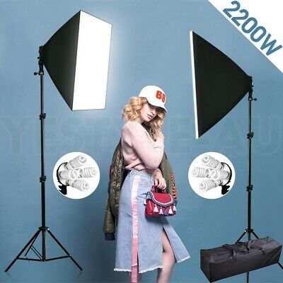 2200W PRO. Photography Studio Softbox Continuous Lighting Stand Photo Carry Bag