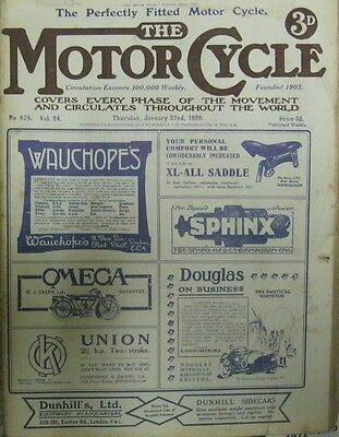 Motorcycle Magazine Jan. 22 1920 No. 878 Exchange preferred - have many others